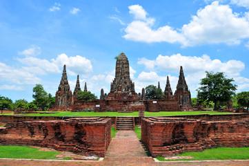 Ancient Ruin Pagoda in Ayutthaya Province, Thailand