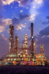Oil refinery factory plant