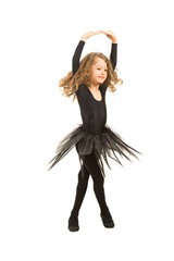 Little ballerina spinning