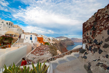 Aluminium Prints European Famous Place Santorini Greece