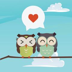 owls on a brunch