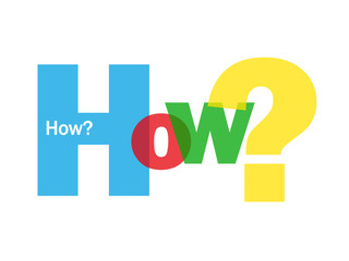 """""""HOW?"""" Letter Collage (user manual guide questions support help)"""