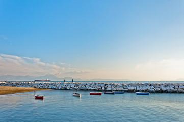 Naples bay with Mediterranean sea
