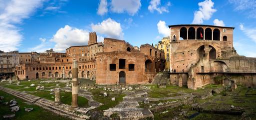 Trajan forum market in Rome