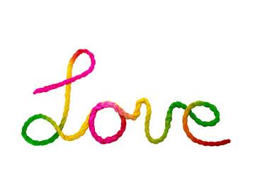 Rope love word