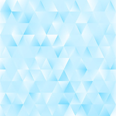 Blue background with triangles