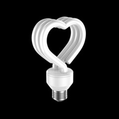 fluorescent light heart shape
