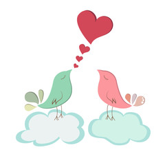 Love bird couple.