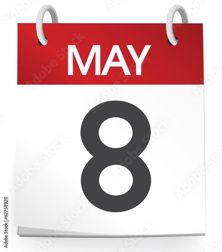 May Calendar Vector : Quot calendar of th may vector stock image and royalty