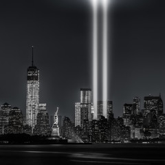 Wall Murals New York City 12 years later…Tribute in Lights, 9/11
