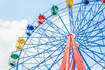 Vintage ferris wheel in the park