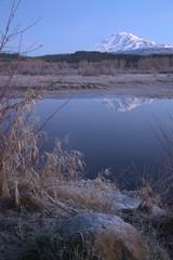 Still Morning Sunrise Trout Lake Adams Mountain Gifford Pinchot