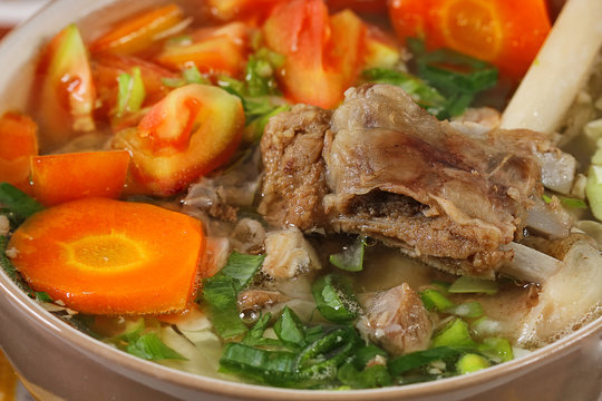 sop kambing, Indonesian meat lamb soup