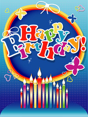 Happy birthday background or card.