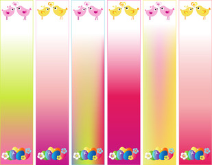 Easter Day Banner Set Skyscraper with Stars in Sizes: 120 x 600.