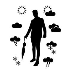 weather forecast symbols vector illustration