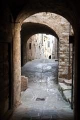 Porticato a Gubbio, Italia