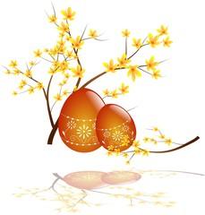 Easter egg with laburnum