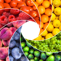 fruit backgrounds as a shutter - healthy eating concept