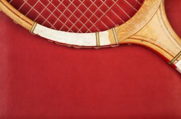 Detail of vintage racket