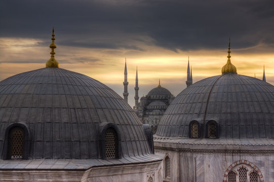 Istanbul Domes and Mosque