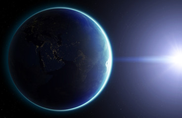3D Planet Earth. Elements of this image furnished by NASA. Other