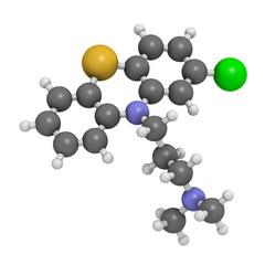 Chlorpromazine (CPZ) antipsychotic drug molecule.