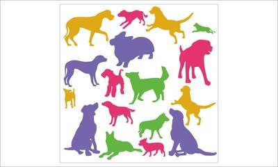 Dogs Vector Digital Clipart