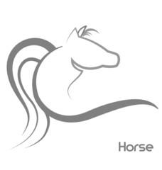 Horse stylized logo vector