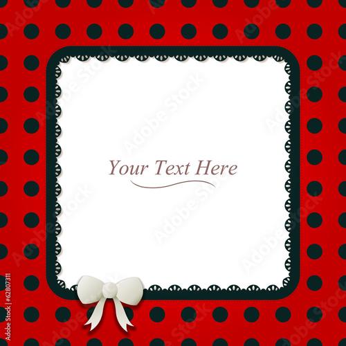 Square Ladybug Frame\