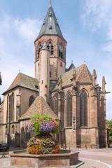 Fototapete - Elsass, Haguenau, Hagenau, Kirche St-Georges