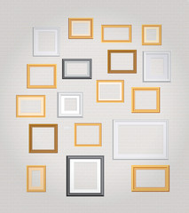 big white wall frames