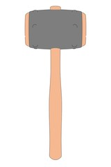 cartoon image of blacksmith hammer