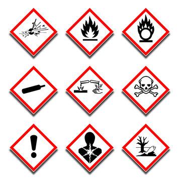 Pictogrammes danger GHS.