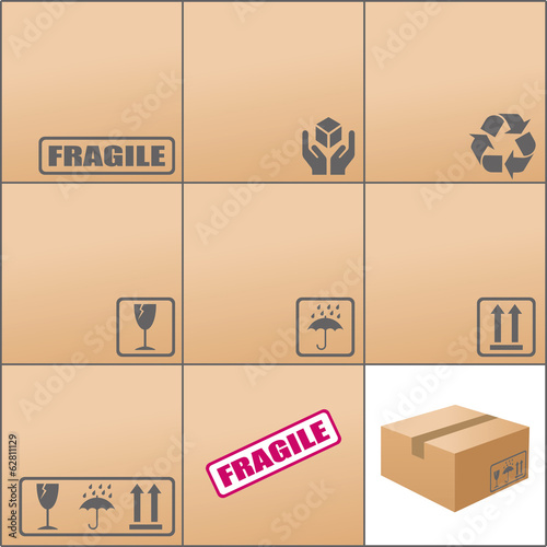 pictogramme carton emballage fichier vectoriel libre de droits sur la banque d 39 images fotolia. Black Bedroom Furniture Sets. Home Design Ideas