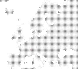 Pixelkarte Europa: Bern liegt hier