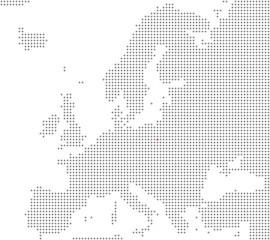 Pixelkarte Europa: Warschau liegt hier