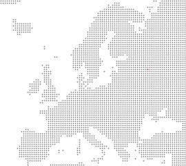 Pixelkarte Europa: Moskau liegt hier