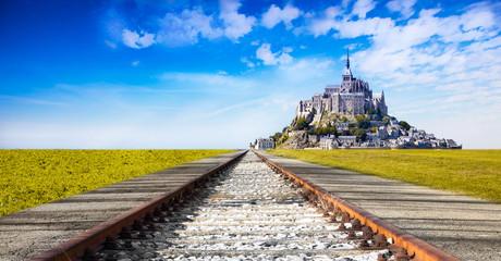 la ferrovia a Mont Saint Michel