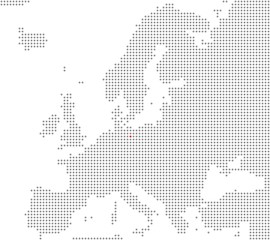 Pixelkarte Europa: Berlin liegt hier