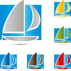 Boot, Segelboot, Schiff, Vektor