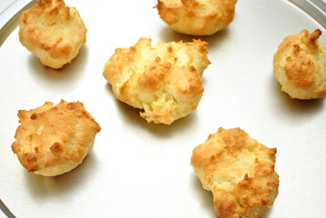 Fresh Biscuits on a Baking Sheet