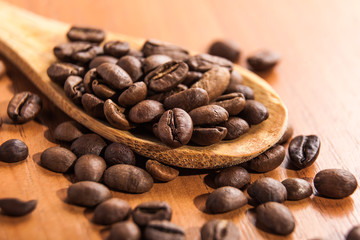fried grains of black coffee