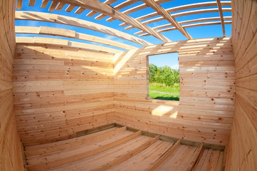 Construction of a new wooden house