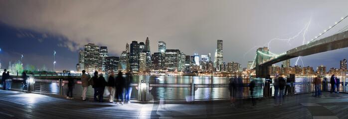 Lightning bolt over New York City