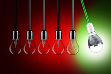 LED pendulum concept