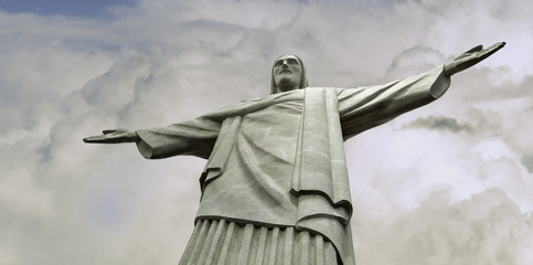 Famous statue of the Christ the Redeemer, in Rio de Janeiro