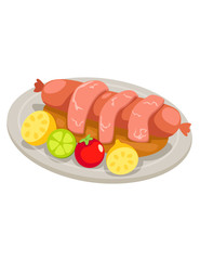 Dish of Sausages