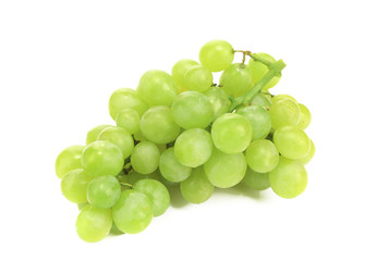 Bunch of ripe and juicy green grapes.
