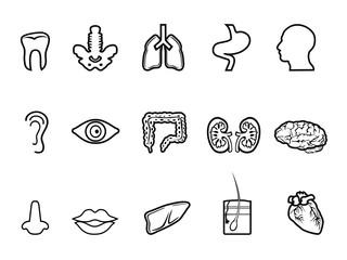 black human anatomy outline icon